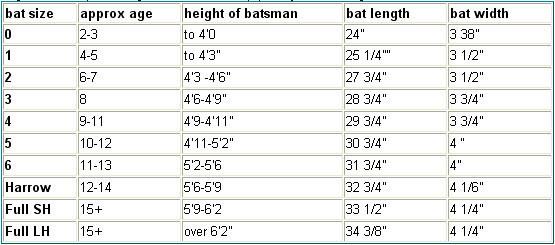 Bat Size Guide